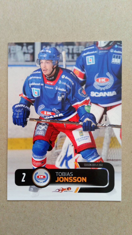 2011-12 City-Press HockeyAllsvenskan #ALLS-153 Tobias Jonsson IK Oskarshamn