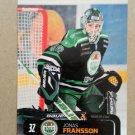2011-12 City-Press HockeyAllsvenskan #ALLS-161 Jonas Fransson Rogle BK