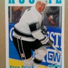 1995-96 Score #301 Kevin Brown Los Angeles Kings Rookie