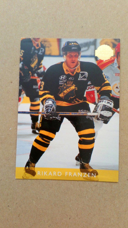 1995-96 Leaf Elit Set Sweden #165 Rikard Franzen A.I.K