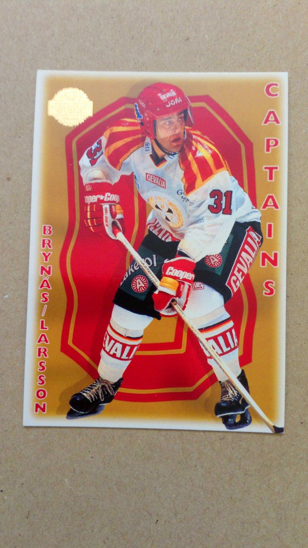 1995-96 Leaf Elit Set Sweden #167 Peter Larsson Brynas IF Captain