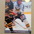 1995-96 Leaf Elit Set Sweden #296 Mattias Olsson Vasteras IK