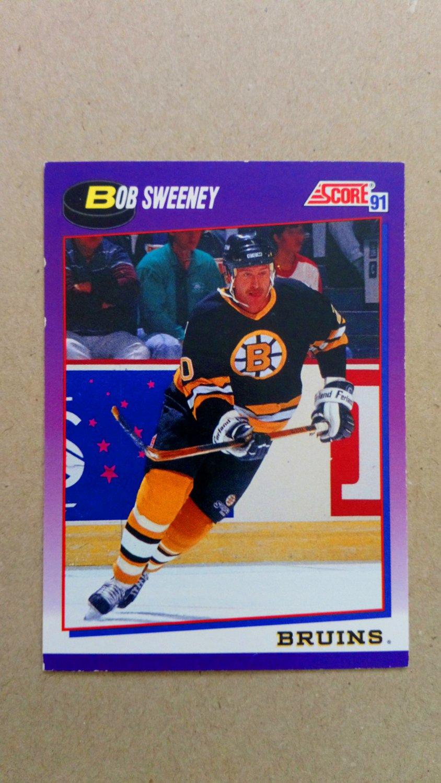 1991-92 Score American #176 Bob Sweeney Boston Bruins