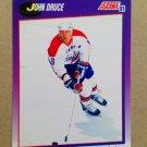 1991-92 Score American #180 John Druce Washington Capitals