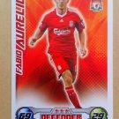 2008-09 Topps Match Attax Extra Premier League Fabio Aurelio Liverpool