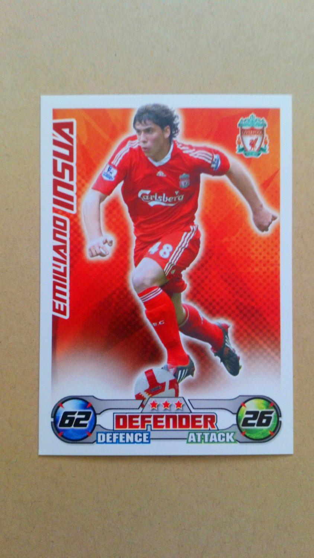 2008-09 Topps Match Attax Extra Premier League Emiliano Insua Liverpool