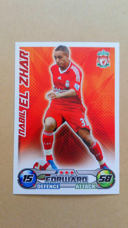 2008-09 Topps Match Attax Extra Premier League Nabil El Zhar Liverpool