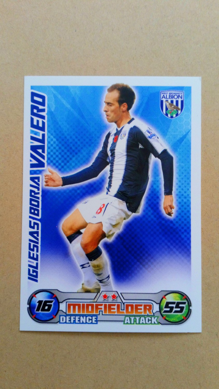 2008-09 Topps Match Attax Extra Premier League Borja Valero West Bromwich Albion
