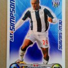 2008-09 Topps Match Attax Extra Premier League Jay Simpson NS West Bromwich Albion