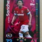 2018-19 Topps Match Attax Premier League #335 Carlos Sanchez West Ham United