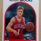 1989-90 NBA Hoops #34 Scott Brooks Philadelphia 76ers Rookie