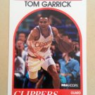 1989-90 NBA Hoops #91 Tom Garrick Los Angeles Clippers Rookie