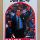 1989-90 NBA Hoops #102 Larry Brown San Antonio Spurs