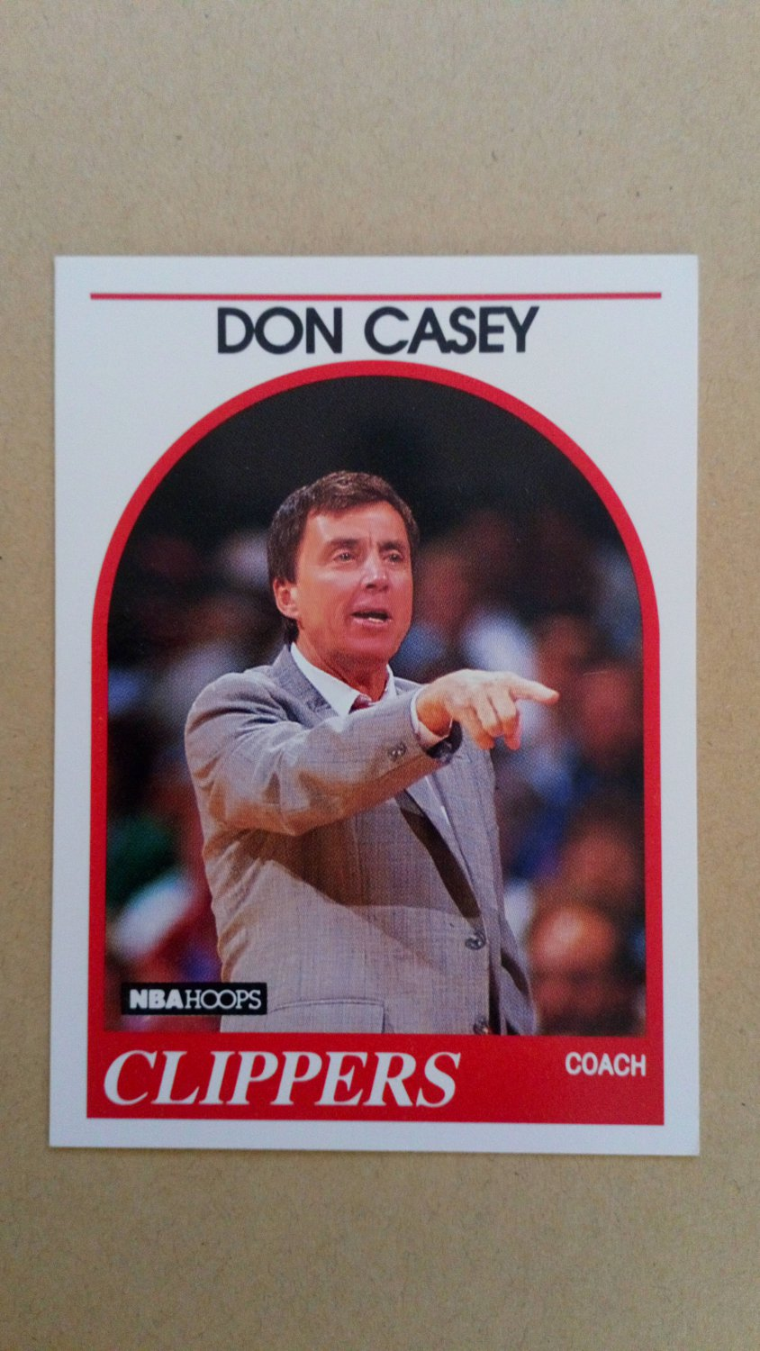 1989-90 NBA Hoops #107 Don Casey Los Angeles Clippers