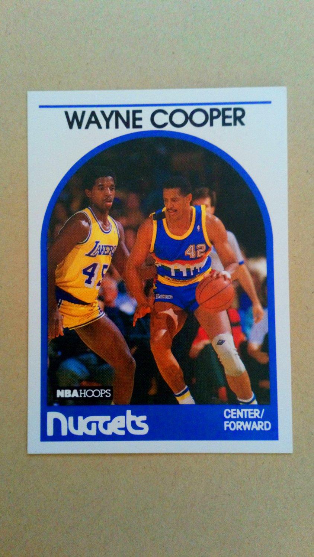 1989-90 NBA Hoops #122 Wayne Cooper Denver Nuggets