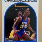 1989-90 NBA Hoops #169 Charles Shackleford New Jersey Nets Rookie