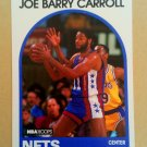 1989-90 NBA Hoops #198 Joe Barry Carroll New Jersey Nets