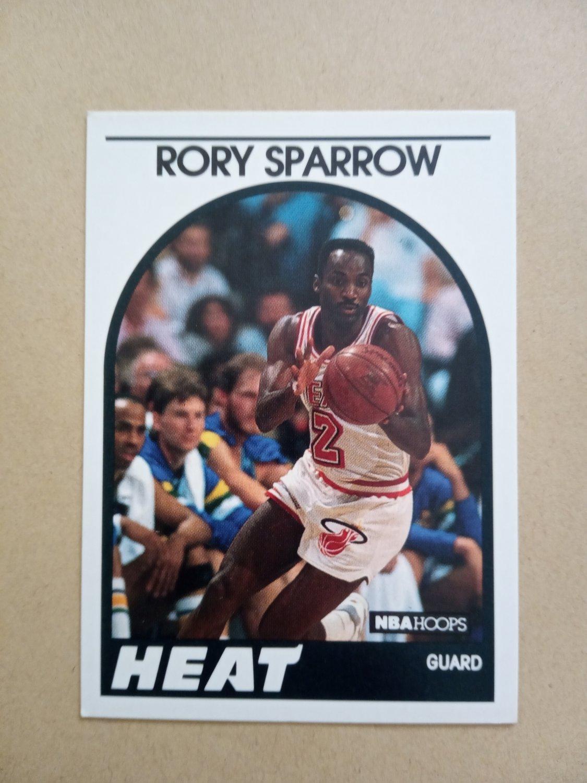 1989-90 NBA Hoops #207 Rory Sparrow Miami Heat