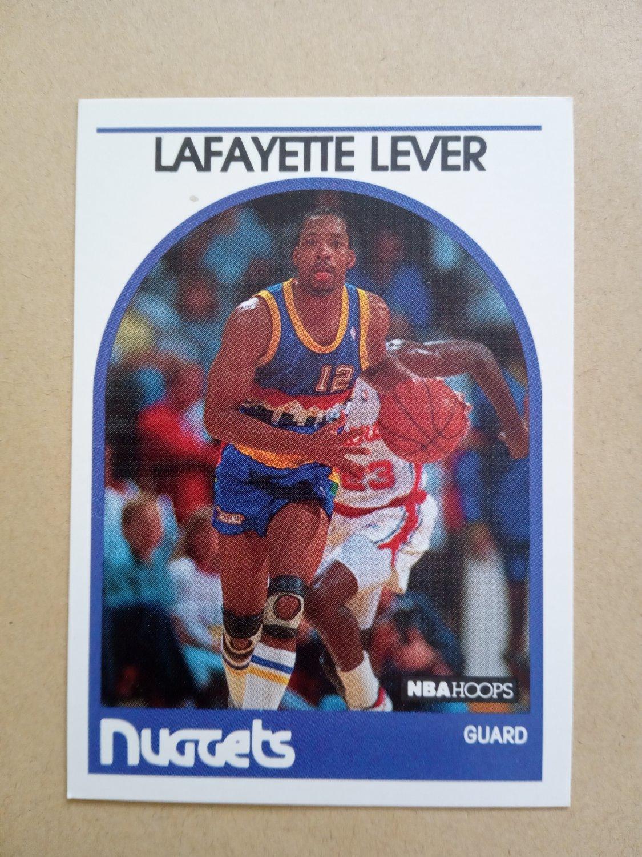 1989-90 NBA Hoops #220 Lafayette Lever Denver Nuggets