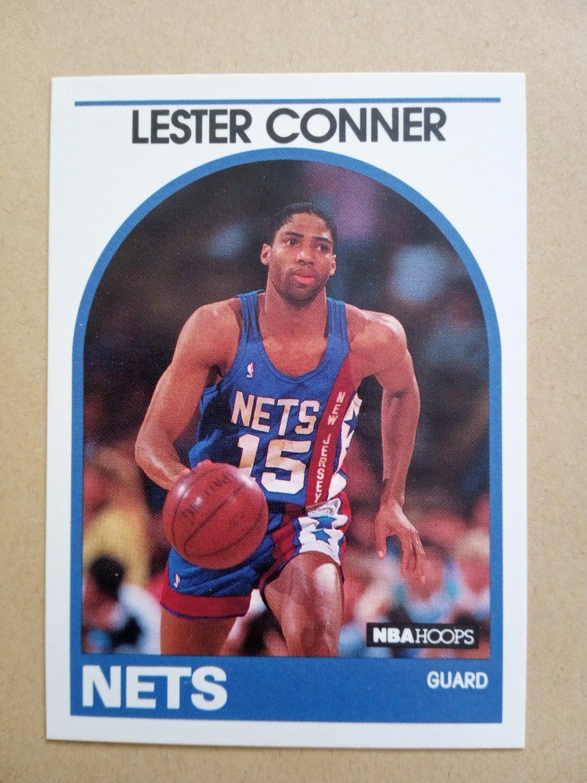 1989-90 NBA Hoops #222 Lester Conner New Jersey Nets