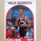 1989-90 NBA Hoops #235 Willie Anderson San Antonio Spurs Rookie