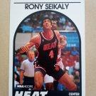 1989-90 NBA Hoops #243 Rony Seikaly Miami Heat Rookie