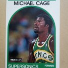 1989-90 NBA Hoops #245 Michael Cage Seattle Supersonics