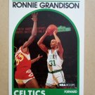 1989-90 NBA Hoops #248 Ronnie Grandison Boston Celtics Rookie