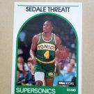 1989-90 NBA Hoops #287 Sedale Threatt Seattle Supersonics