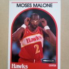 1989-90 NBA Hoops #290 Moses Malone Atlanta Hawks
