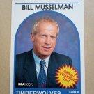 1989-90 NBA Hoops #314 Bill Musselman Minnesota Timberwolves