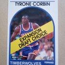 1989-90 NBA Hoops #319 Tyrone Corbin Minnesota Timberwolves