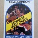 1989-90 NBA Hoops #324 Steve Johnson Minnesota Timberwolves