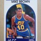 1989-90 NBA Hoops #336 Mike Brown Utah Jazz