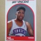 1989-90 NBA Hoops #345 Jay Vincent Philadelphia 76ers