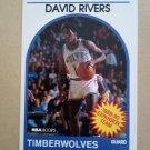 1989-90 NBA Hoops #346 David Rivers Minnesota Timberwolves