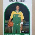 1989-90 NBA Hoops #348 Brad Sellers Seattle Supersonics
