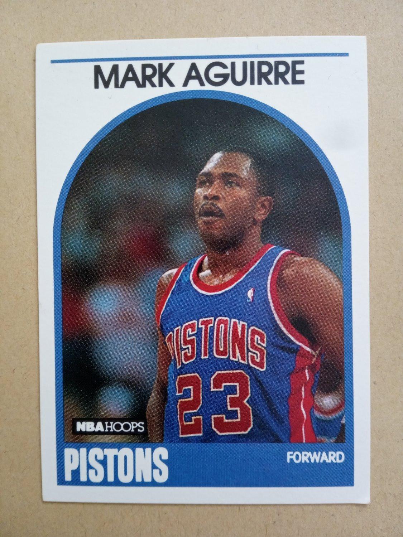 1989-90 NBA Hoops #95 Mark Aguirre Detroit Pistons