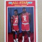 1989-90 Fleer #165 Dominique Wilkins / Moses Malone Atlanta Hawks All-Star