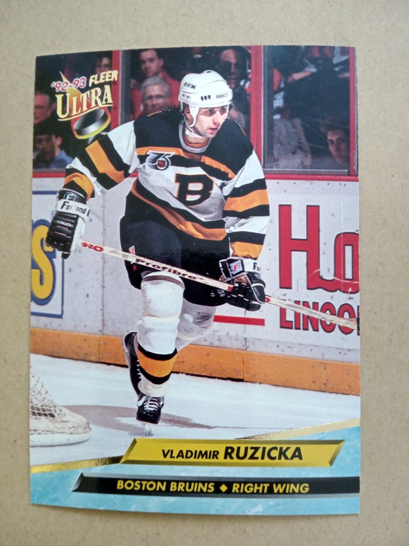 1992-93 Fleer Ultra #10 Vladimir Ruzicka Boston Bruins
