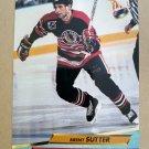 1992-93 Fleer Ultra #43 Brent Sutter Chicago Blackhawks