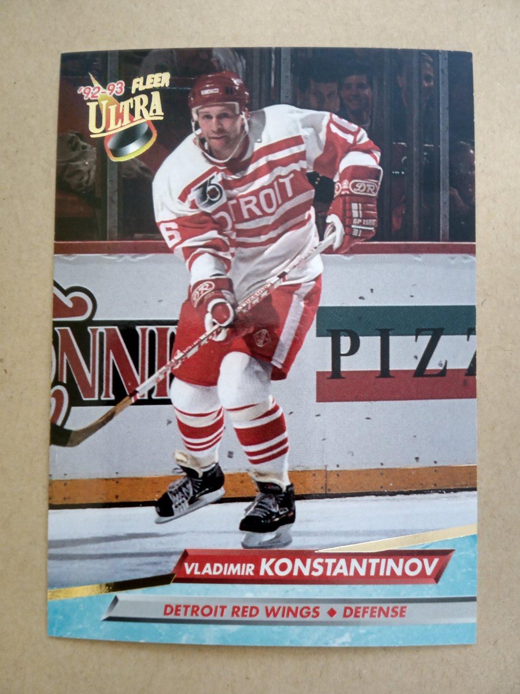 1992-93 Fleer Ultra #49 Vladimir Konstantinov Detroit Red Wings