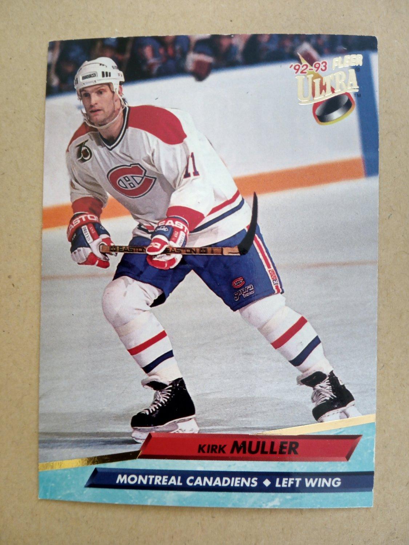 1992-93 Fleer Ultra #107 Kirk Muller Montreal Canadiens