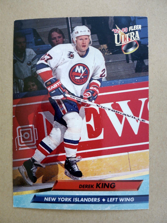 1992-93 Fleer Ultra #128 Derek King New York Islanders