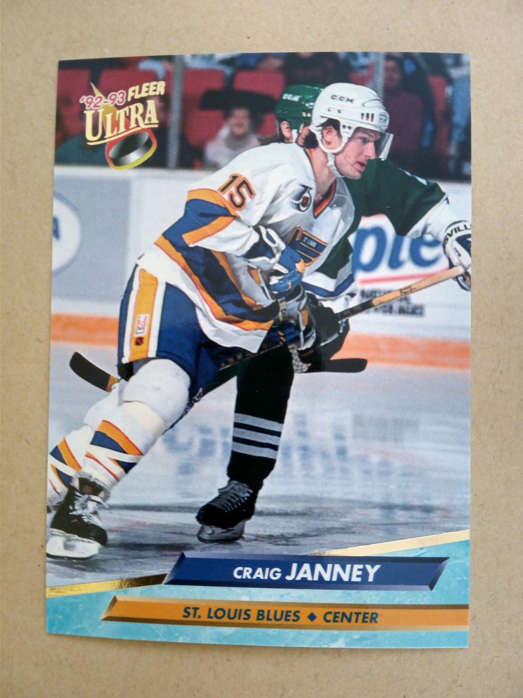 1992-93 Fleer Ultra #187 Craig Janney St. Louis Blues