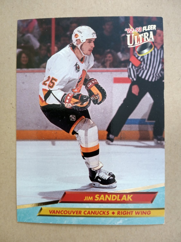 1992-93 Fleer Ultra #228 Jim Sandlak Vancouver Canucks