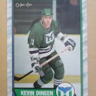 1989-90 O-Pee-Chee #20 Kevin Dineen Hartford Whalers