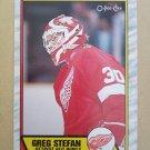 1989-90 O-Pee-Chee #23 Greg Stefan Detroit Red Wings