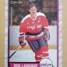1989-90 O-Pee-Chee #55 Rod Langway Washington Capitals