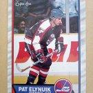 1989-90 O-Pee-Chee #94 Pat Elynuik Winnipeg Jets Rookie